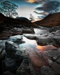 Glen Etive, Lochaber, the Highlands, Scotland