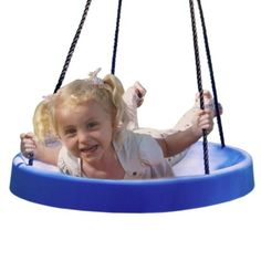 Super Spinner® Swing, FUN! Easy Install for Swing Set or Tree, Best Swing on the Planet! (Blue)