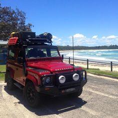 Land Rover Defender 90 Td4 Red Beach Bum