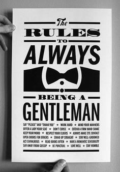 simple rules of Gentleman