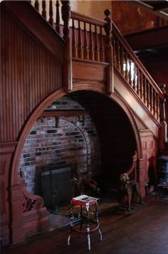 Fireplace ~ inglenook underneath stairs