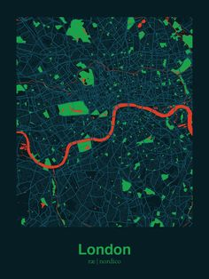 London, England Map Print