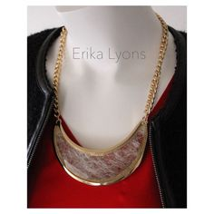 """BOGO Erika Lyons Beveled Crescent Necklace in Gold Chic and sophisticated, Erika Lyons reveals a beveled crescent necklace with gold edging. The crescent displays a clear, glass piece, with beveled edges, and a scratched appearance. Excellent quality! 🔹17 1/2"""" adjustable gold chain. 🔹Crescent width 4 7/8"""" and height 1 3/4"""". 🎈BOGO purchase item of greater value at full price and choose an item of equal or lesser value for 50% off.🎈TAG ME AND I WILL ADJUST THE PRICE MANUALLY TO REFLECT THE…"""