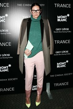 Jenna Lyons at the Trance premiere in New York. #fashion