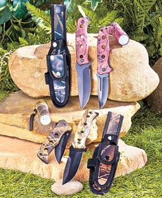 Whether you're hunting, fishing, or camping, keep this 3-Pc. Survival Knife Set by your side. It gives you 2 different types of knives and an LED fl