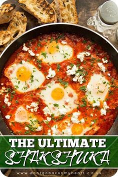 Here I'll give you some tips and tricks to making the BEST Shakshuka. Made wit. Here I'll give you some tips and tricks to making the BEST Shakshuka. Made with pantry staples and served with crumbled feta, this truly is the ultimate brunch. Vegetarian Recipes, Cooking Recipes, Healthy Recipes, Cooking Bacon, Healthy Food, Cooking Rice, Kosher Recipes, Simple Recipes, Shakshuka Recipes