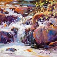 Learn how to paint water in oil here now with this video tutorial <<-- http://bit.ly/1Zb7Jab