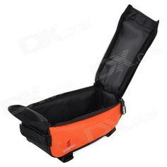 YANHO YA076 Cycling Polyester + PVC Bike Top Tube Bag for Cellphone / GPS + More - Orange + Black
