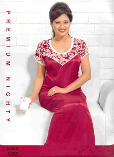 Various types of night dresses for girls like one piece night dress online shopping in Bangladesh, nighty, nightwear, sexy and hot night dress are available at a cheap rate. Girls Night Dress, Night Gown Dress, Night Dress For Women, Girls Dresses, Night Dress Online, Dresses Online, Kurti Embroidery Design, Online Dress Shopping, Indian Beauty Saree