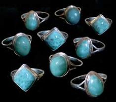 Larimar One of my Favorite stones!!Have some from my trip to the Dominican Republic!