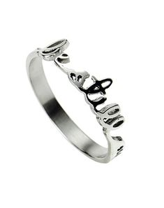 """Still"""" Handwritten Ring Size 8 so I can wear it on my thumb. """"Be Still"""" Handwritten Ring.Size 8 so I can wear it on my thumb. """"Be Still"""" Handwritten Ring. Bling Bling, The Bling Ring, Daisy Fuentes, Jewelry Box, Jewelry Rings, Jewelry Accessories, Jewlery, Body Jewelry, Jewelry Watches"""