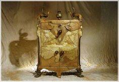 unique and antique wardrobe exotic luxury furniture design by Michel Haillard