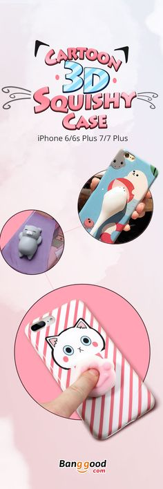 US$7.99 + Free Shipping. Cartoon Phone Case, Squishy Toy Phone Case, Squeeze Phone Case, Cute Phone Case, Phone Case for Iphone. Size: 4.7 Inch & 5.5 Inch. Up to 53% Off. Best Stress Reliever Phone Case. Squeeze the Toy as You Want for Only $7.99!