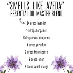 Smells Like Aveda diffuser oil recipe #Essentialoildiffusers