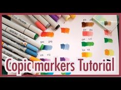 Copic markers tutorial - How to create a third color from only 2 markers Copic Markers Tutorial, Copic Sketch Markers, Wall Drawing, Drawing Board, Copic Drawings, Sandy Allnock, Coloring Pages, Adult Coloring, Colouring