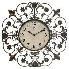 Fleur de Lis Wall Clock  I want this for my house!