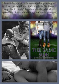 The Same Side, book 2 in the University Park Series is available on iTunes! https://itunes.apple.com/us/book/the-same-side/id915632806?mt=11