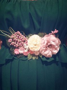 Cinturon de flores para vestido de fiesta