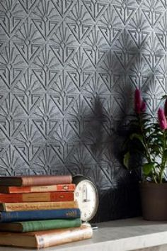 Anaglypta Wallpaper Deco Paradiso - White, can be painted any colour