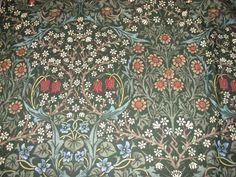 Blackthorn wallpaper late C19th  POUL WEBB ART BLOG: William Morris wallpaper & textiles