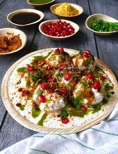Dahi Vada , so tasty and mouth watering food , full of flavours . Dahi Vada Recipe, Chaat Recipe, Indian Food Recipes, Vegetarian Recipes, Cooking Recipes, Veg Dishes, Food Dishes, Ramzan Recipe, Cooking Measurements