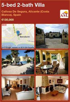 5-bed 2-bath Villa in Callosa De Segura, Alicante (Costa Blanca), Spain ►€130,000 #PropertyForSaleInSpain