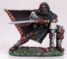Dark Sword - Visions in Fantasy - Crouching Male Assassin