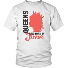 f020d4a0 Black Queens Are Born In June Birthday T-Shirt for Women t shirt – Bornmay