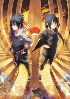 Sasuke and Itachi Sasuke And Itachi, Madara Uchiha, Naruto Shippuden Anime, Anime Naruto, Boruto, Sasunaru, Kakashi, Naruto Team 7, Naruto Art