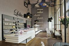 This a a cafe in Ljublijana, Slovenia called Lolita located in an old warehouse.