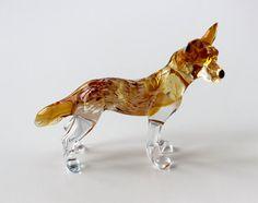 Dog Miniature Hand Blown Glass Murano Sculpture by GoldBark, $8.99
