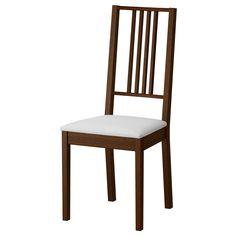 BÖRJE Stuhl - braun/Gobo weiß - IKEA