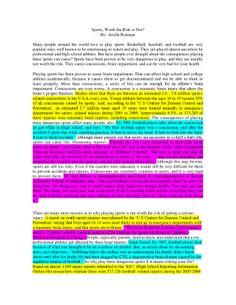 Sports Essay Ariella Roitman pg 1