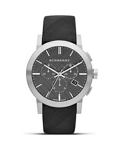 Black Strap Watch by Burberry