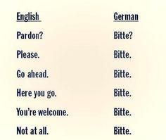 German language bitte funny meaning multi-use joke lol