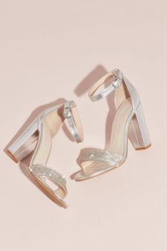 a61f9b411 Triple-Strap Block Heel Sandals with Crystals Style STRIKING