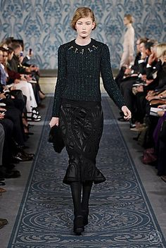 Tory Burch Fall 2013 #ToryFall13  love the cut of the skirt, the not too frilly bell shaped flounce on the end
