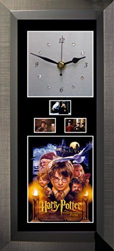 Film Cells Direct Harry Potter and the Philosophers Stone - Silent sweep wall clock with SWAROVSKI crystals. Harry Potter Watch, Harry Potter Hermione, Harry Potter Diy, Watch Diy, Philosophers Stone, Hogwarts, Swarovski Crystals, Clock, Film