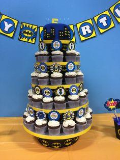 Batman cupcake tower