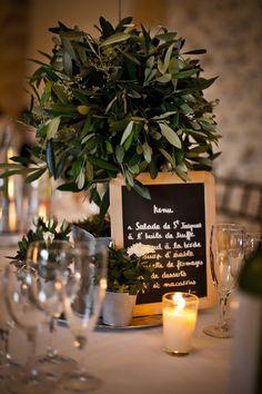 Idée centre de table pour votre mariage provençal - Olivier - Provencal wedding idea - Oliver