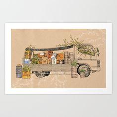 Green+Invasion+Art+Print+by+Florever+-+$16.00