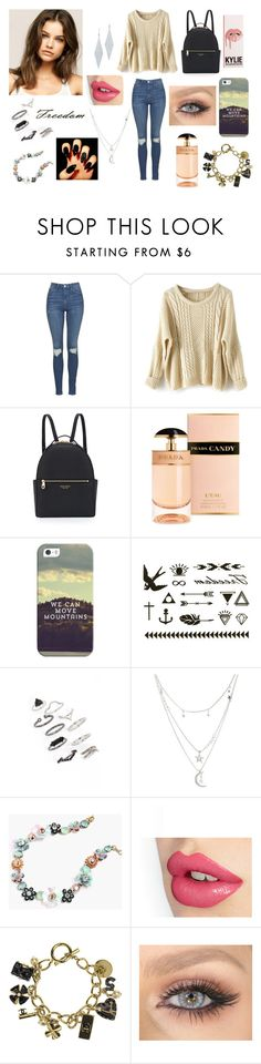 """Freedom"" by samanthadanetti on Polyvore featuring moda, Topshop, WithChic, Henri Bendel, Prada, Casetify, Charlotte Russe, J.Crew, Chanel y Tiffany & Co."