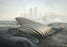 The OODA Busan Opera House embodies an organic oceanic influence … - Architecture Organique Organic Architecture, Architecture Student, Concept Architecture, Futuristic Architecture, Amazing Architecture, Contemporary Architecture, Architecture Design, Installation Architecture, Cultural Architecture