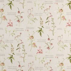 Botanical Gardens Curtain Fabric Spring | Cheap Printed Fabric | UK Delivery
