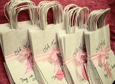 PARIS Party Favor Bags Set of 20 Personalized You pick the color of the design Eiffel Tower - Thank You Gift Bags on Etsy, $44.99