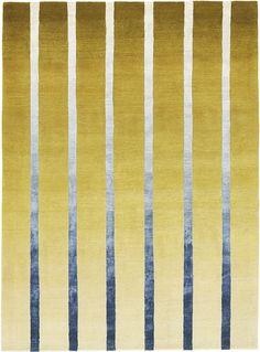 Tapis noué en laine et soie naturelle, Dawn (Deirdre Dyson)