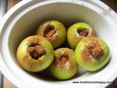 Slow Cooker Baked Apple Recipe #HealthHomeandHappiness