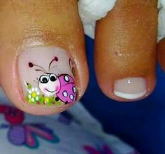 Toe Nail Art, Toe Nails, Nail Art Videos, Toe Nail Designs, Flower Nails, Pedicure, Hair Beauty, Toenails Painted, Perfect Nails
