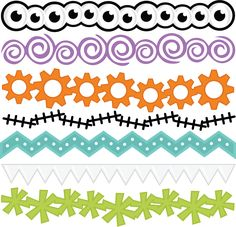 Monster Borders SVG files for scrapbooking svg borders monster svgs free svgs cute svg cuts