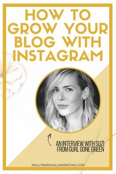 How To Grow Your Blog With Instagram | Molly Marshall Marketing Mobile Marketing, Content Marketing, Online Marketing, Social Media Marketing, Digital Marketing, Facebook Marketing, Marketing Ideas, Tips Instagram, Instagram Marketing Tips